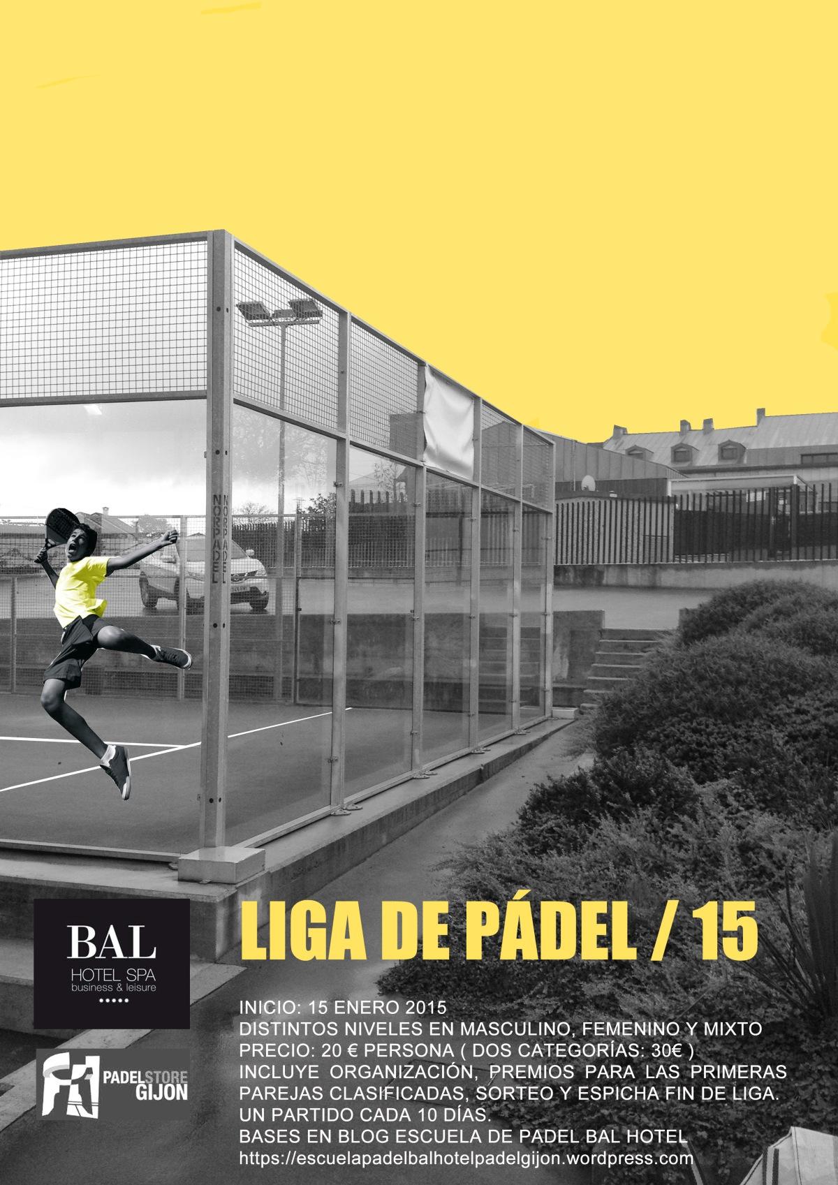 BASES completas de la Liga de pádel BAL HOTEL & SPA /2015